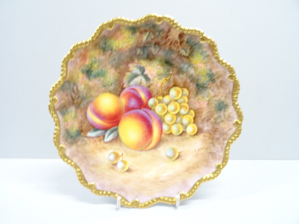 royal worcester fruit star plate