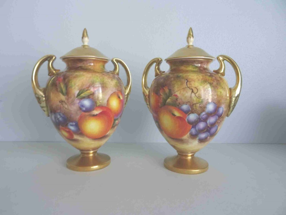 royal worcester pair of vases