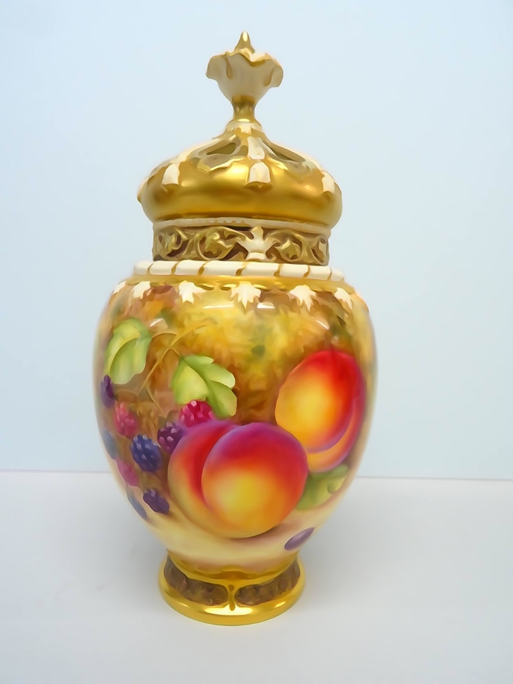 royal worcester small rose jar